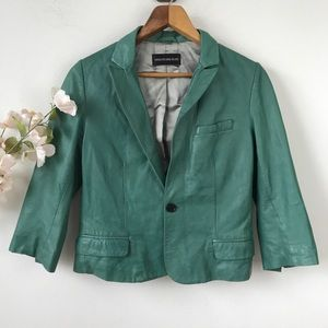 Zadig & Voltaire Deluxe Green Leather Jacket